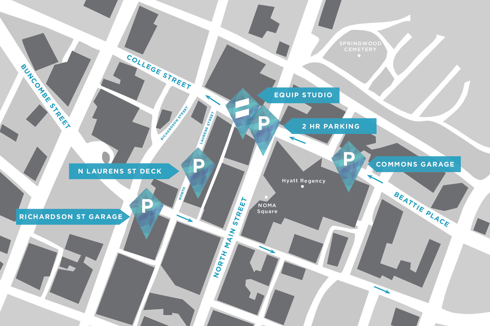 Parking Map - Equip Studio - GVL